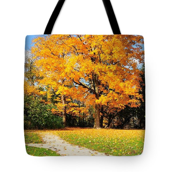 Tote Bag featuring the photograph Tree Of Gold by Joe  Ng