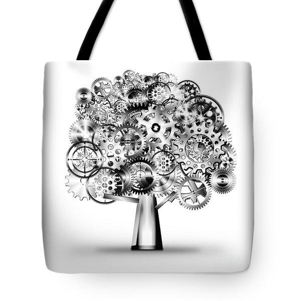 Tree Of Industrial Tote Bag by Setsiri Silapasuwanchai