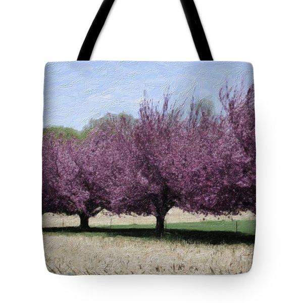 Trees On Warwick Tote Bag by Trish Tritz