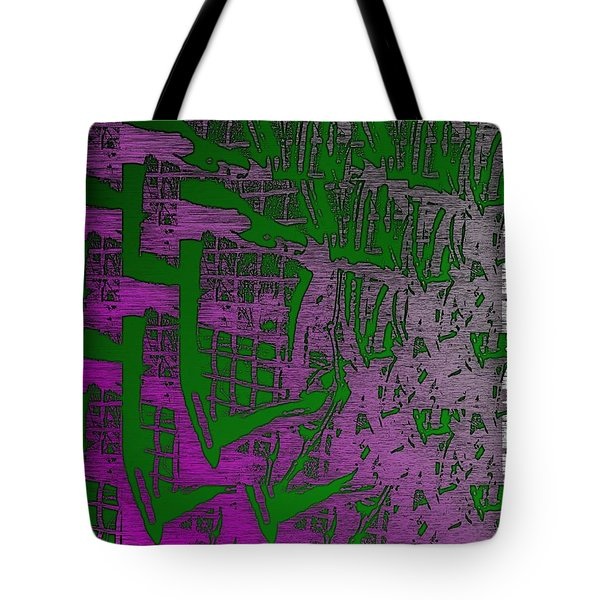 Trellis In The Mist Tote Bag by Tim Allen