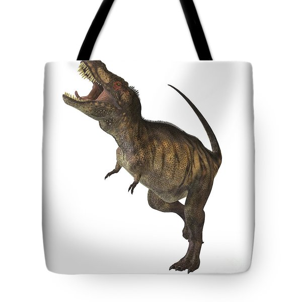 Tyrannosaurus Rex Tote Bag by Corey Ford