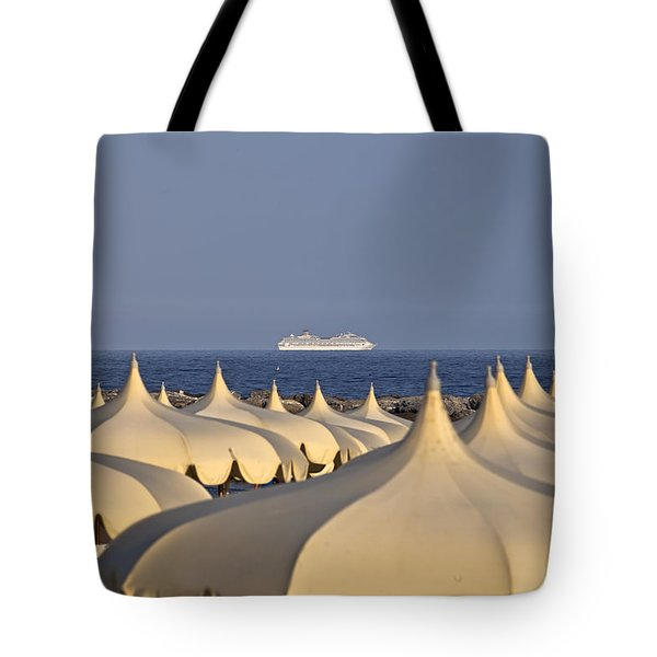 Umbrellas In The Sun Tote Bag by Joana Kruse