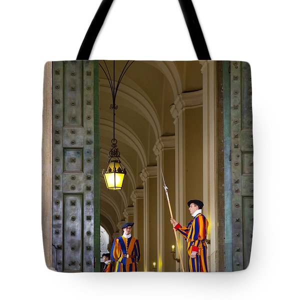 Vatican Entrance Tote Bag by Brian Jannsen