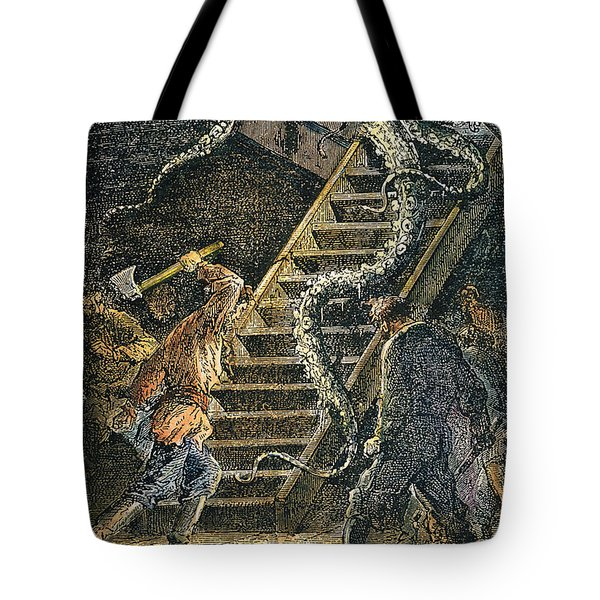 Verne: 20,000 Leagues, 1870 Tote Bag by Granger