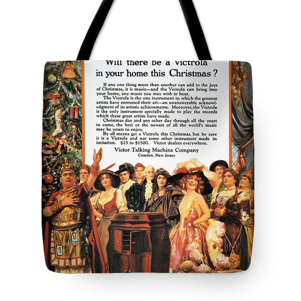Victrola Advertisement Tote Bag by Granger