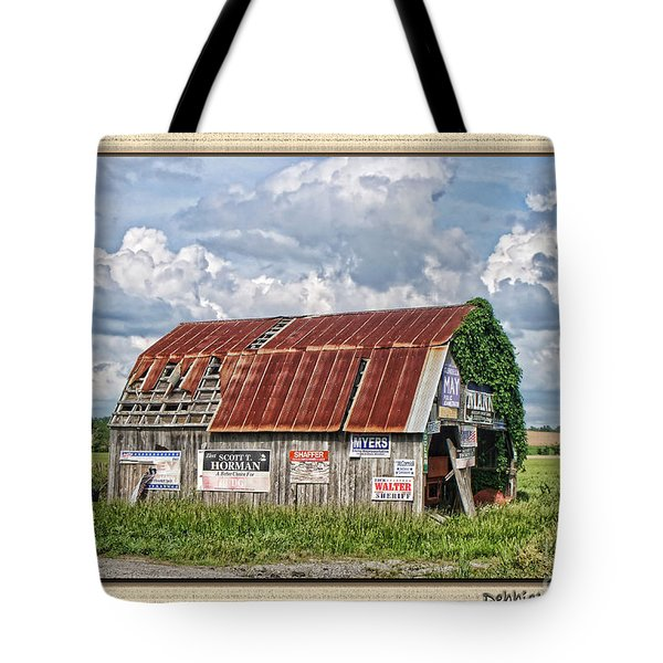 Tote Bag featuring the photograph Vote For Me I by Debbie Portwood