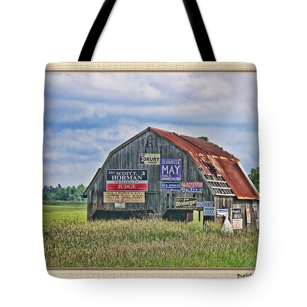 Tote Bag featuring the photograph Vote For Me II by Debbie Portwood