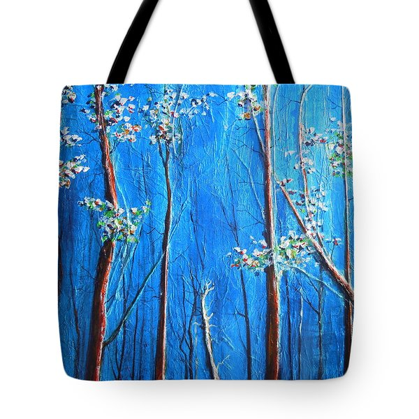 Tote Bag featuring the painting Waiting by Dan Whittemore
