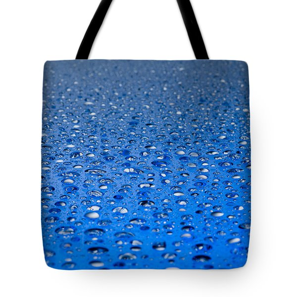 Water Drops On A Shiny Surface Tote Bag