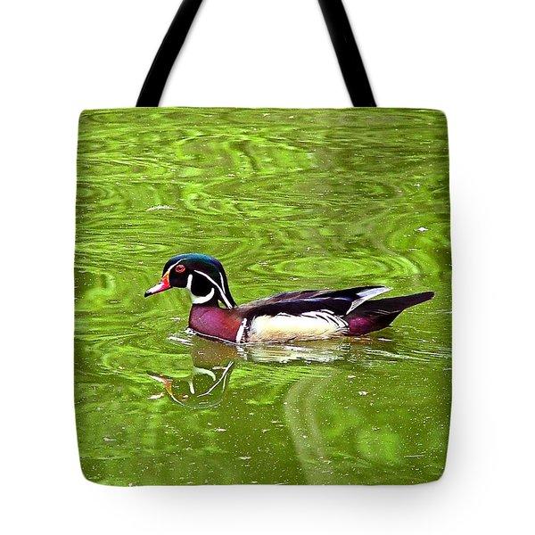 Water Wood Duck Tote Bag