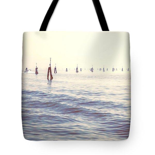 Waterway In The Lagoon Of Venice Tote Bag by Joana Kruse