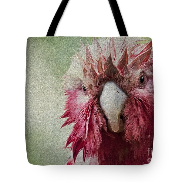 Wet Galah Tote Bag by Avalon Fine Art Photography