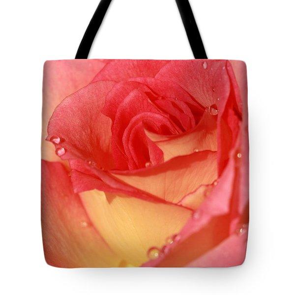 Wet Rose Tote Bag by Sabrina L Ryan