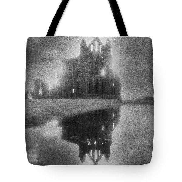 Whitby Abbey Tote Bag by Simon Marsden