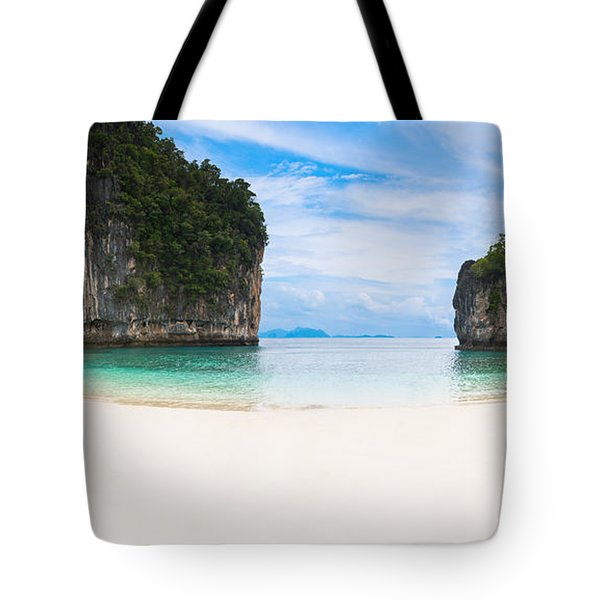 White Sandy Beach In Thailand Tote Bag