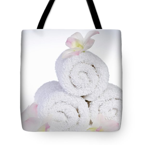 White Spa Tote Bag by Elena Elisseeva