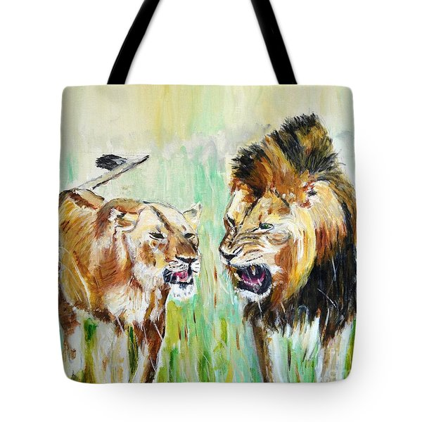 Tote Bag featuring the painting wild Kingdom by Judy Kay