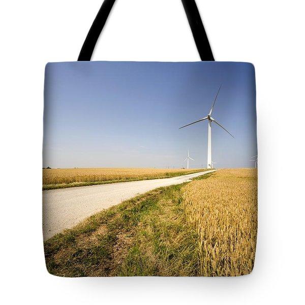 Wind Turbine, Humberside, England Tote Bag by John Short