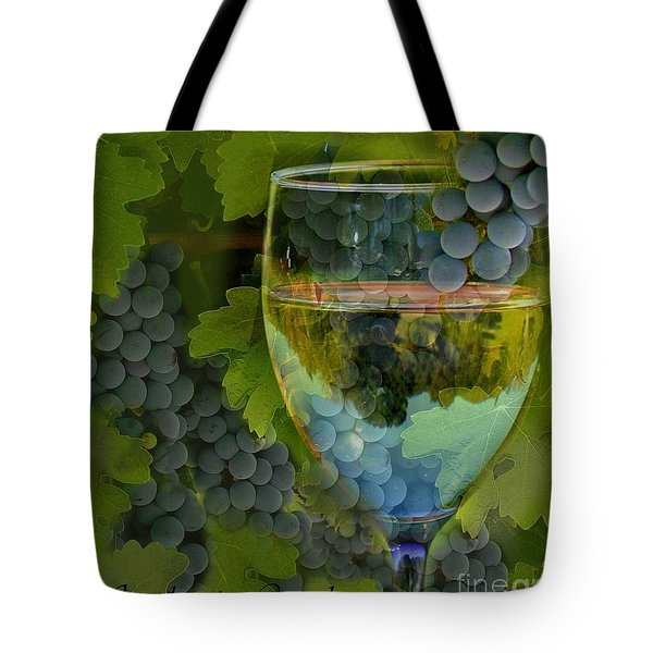Wine Glass Tote Bag by Stephanie Laird