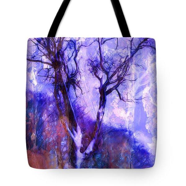 Winter Tree Tote Bag by Ron Jones
