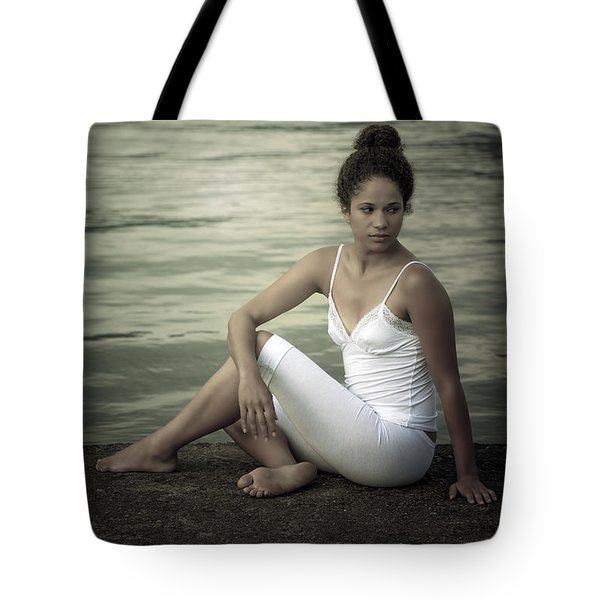 Woman At A Lake Tote Bag by Joana Kruse