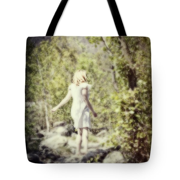 Woman In A Forest Tote Bag by Joana Kruse