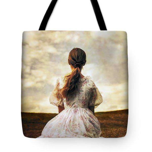 Woman On A Meadow Tote Bag by Joana Kruse