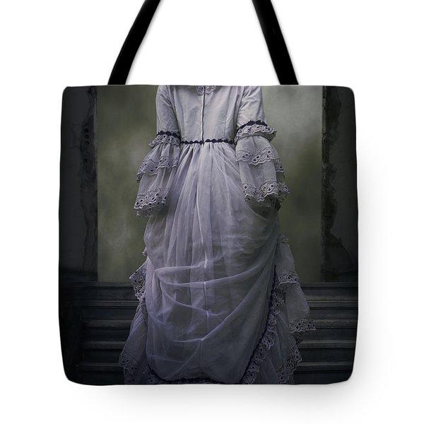 Woman On Steps Tote Bag by Joana Kruse