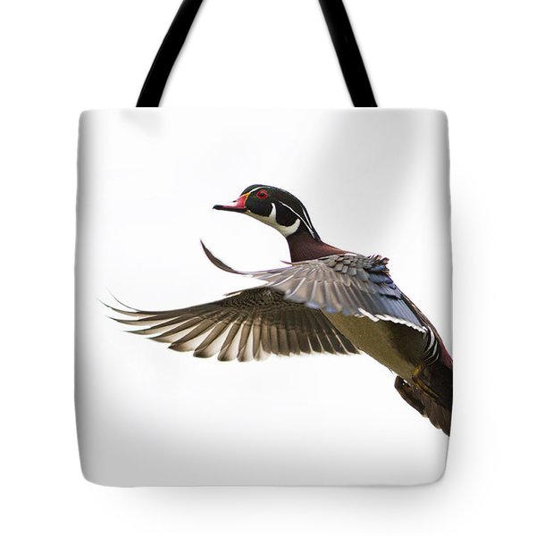 Wood Duck Tote Bag by Mircea Costina Photography
