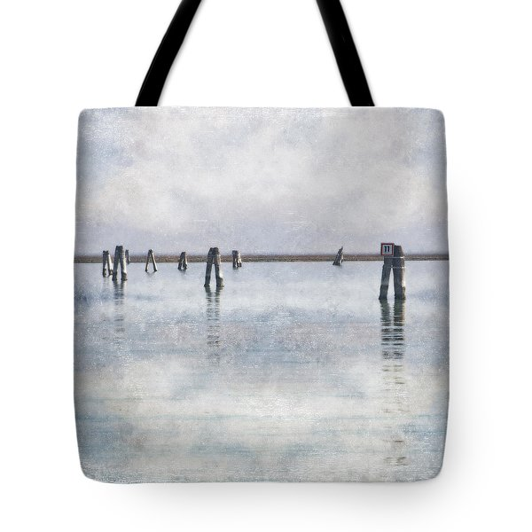 wood piles in the lagoon of Venice Tote Bag by Joana Kruse
