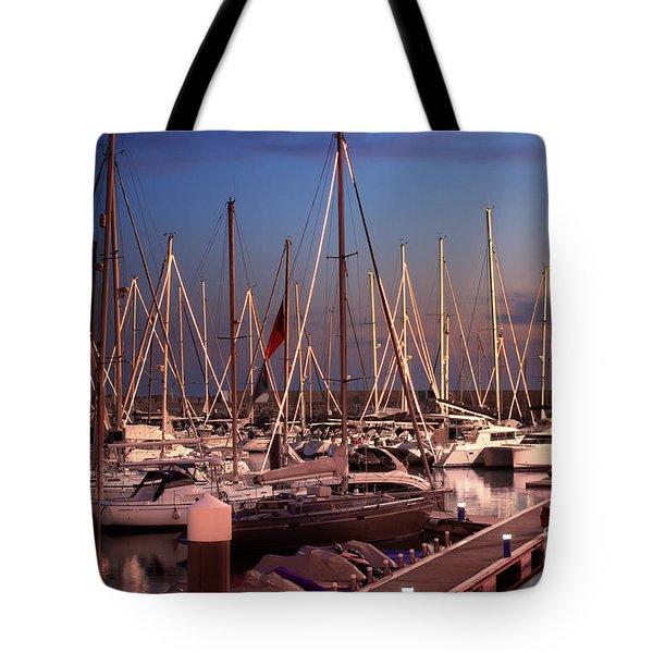 Yacht Marina Tote Bag by Carlos Caetano