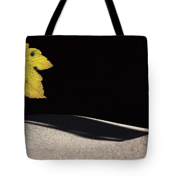 Yellow Leaf Tote Bag by Michael Mogensen