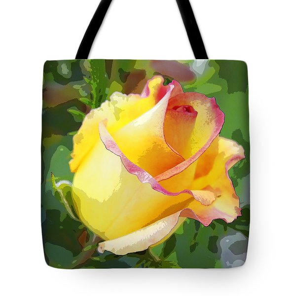 Yellow Rose Tote Bag by Anne Mott