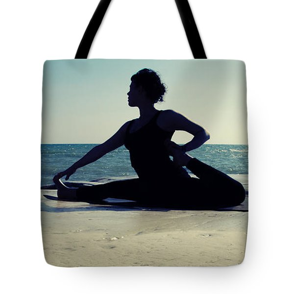 Yoga Tote Bag by Stelios Kleanthous