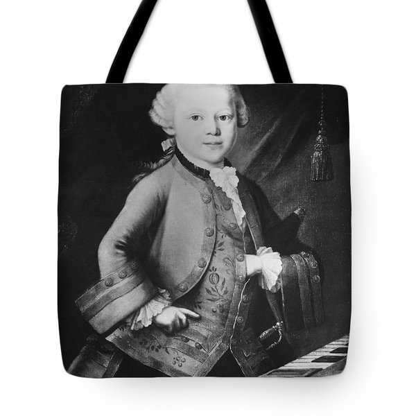 Young Wolfgang Amadeus Mozart, Austrian Tote Bag by Omikron