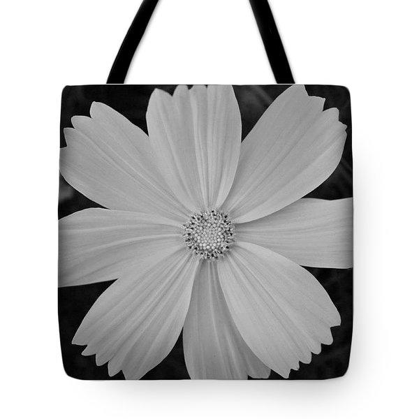 Black And White Petals Tote Bag