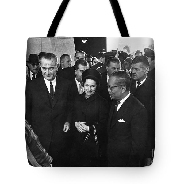 Lyndon Baines Johnson Tote Bag by Granger