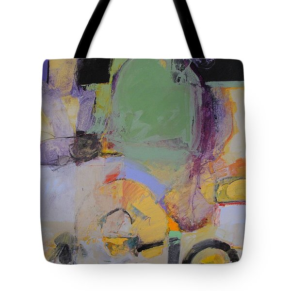 Tote Bag featuring the painting 10th Street Bass Hole by Cliff Spohn