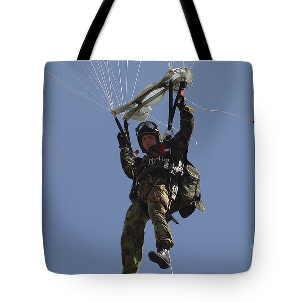 A Member Of The Pathfinder Platoon Tote Bag by Andrew Chittock