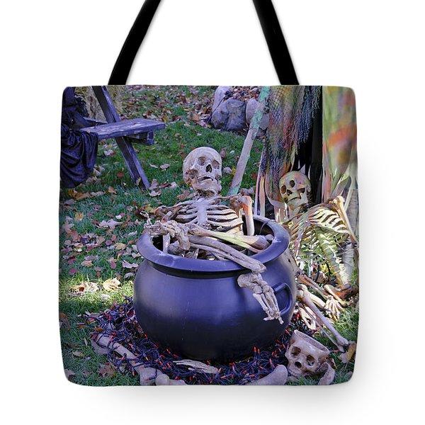 Fall  Halloween On Tillson Street Tote Bag by LeeAnn McLaneGoetz McLaneGoetzStudioLLCcom