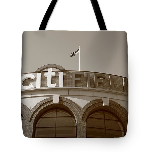 Citi Field - New York Mets Tote Bag by Frank Romeo
