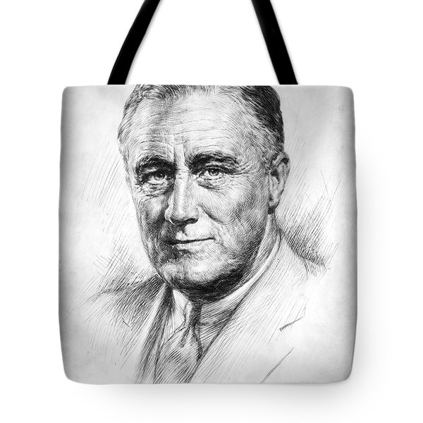 Franklin Delano Roosevelt Tote Bag by Granger