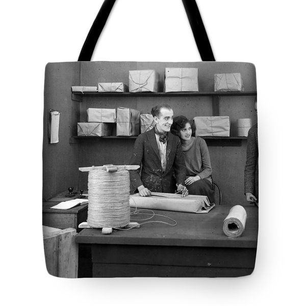 Silent Film Still: Offices Tote Bag by Granger