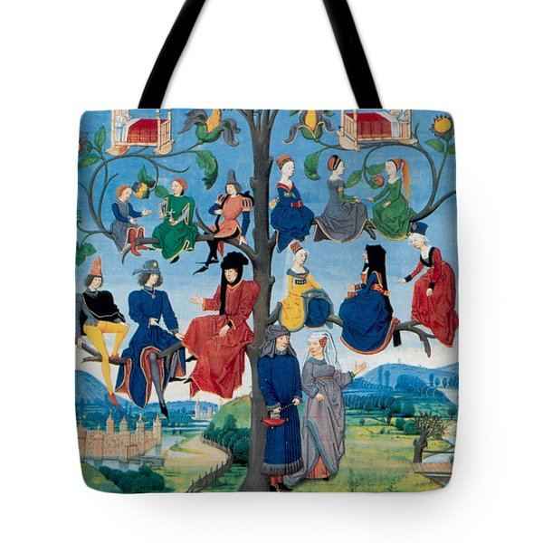 15th-century Family Tree Tote Bag by Photo Researchers