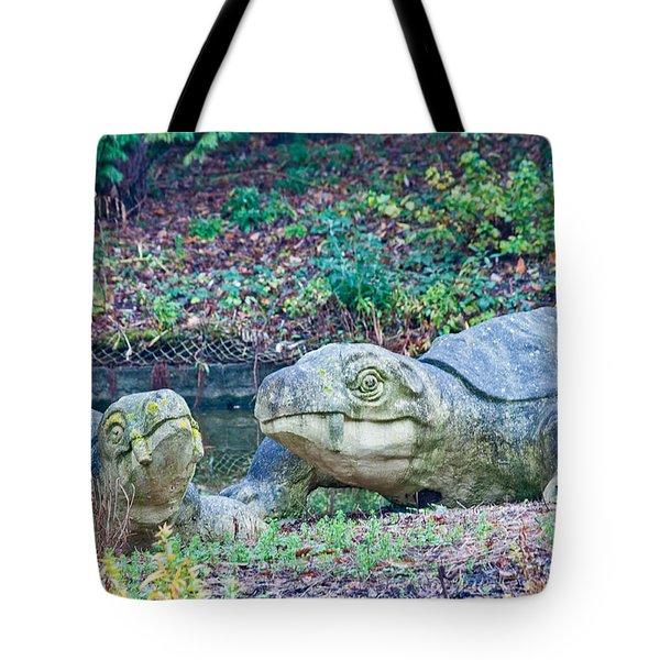 Dinosaur Tote Bag by Dawn OConnor