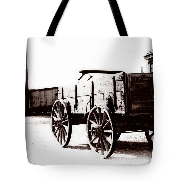 1900 Wagon Tote Bag by Marcin and Dawid Witukiewicz