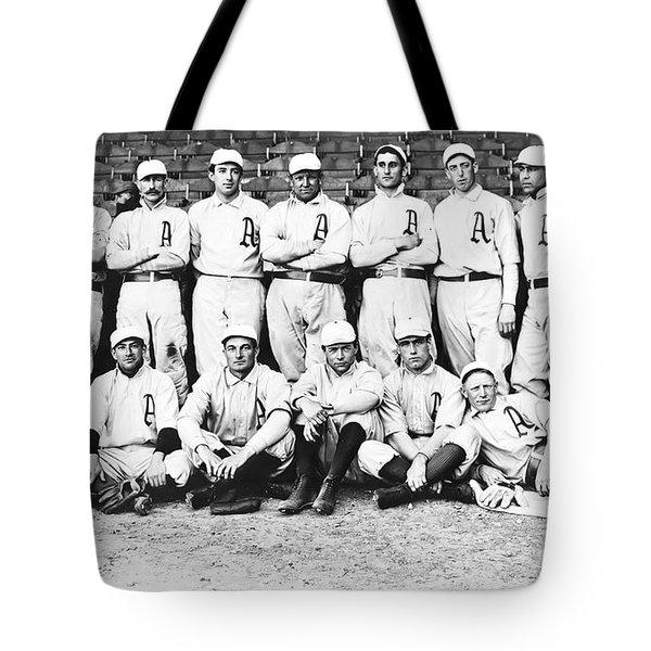 1902 Philadelphia Athletics Tote Bag by Bill Cannon