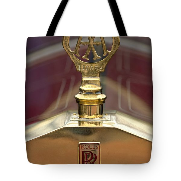 1910 Rolls-royce Silver Ghost Balloon Hood Ornament Tote Bag by Jill Reger