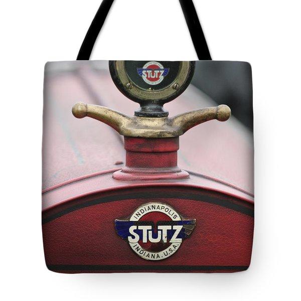1916 Stutz Series B Bearcat Hood Ornament Tote Bag by Jill Reger