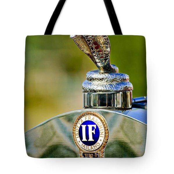 1924 Isotta-fraschini Tipo 8 Torpedo Phaeton Hood Ornament Tote Bag by Jill Reger